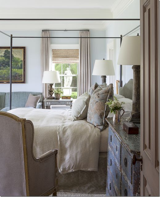 {A variety of finishes and textures help to make this room look as if it's evolved.  Image via Tara Dillard.}