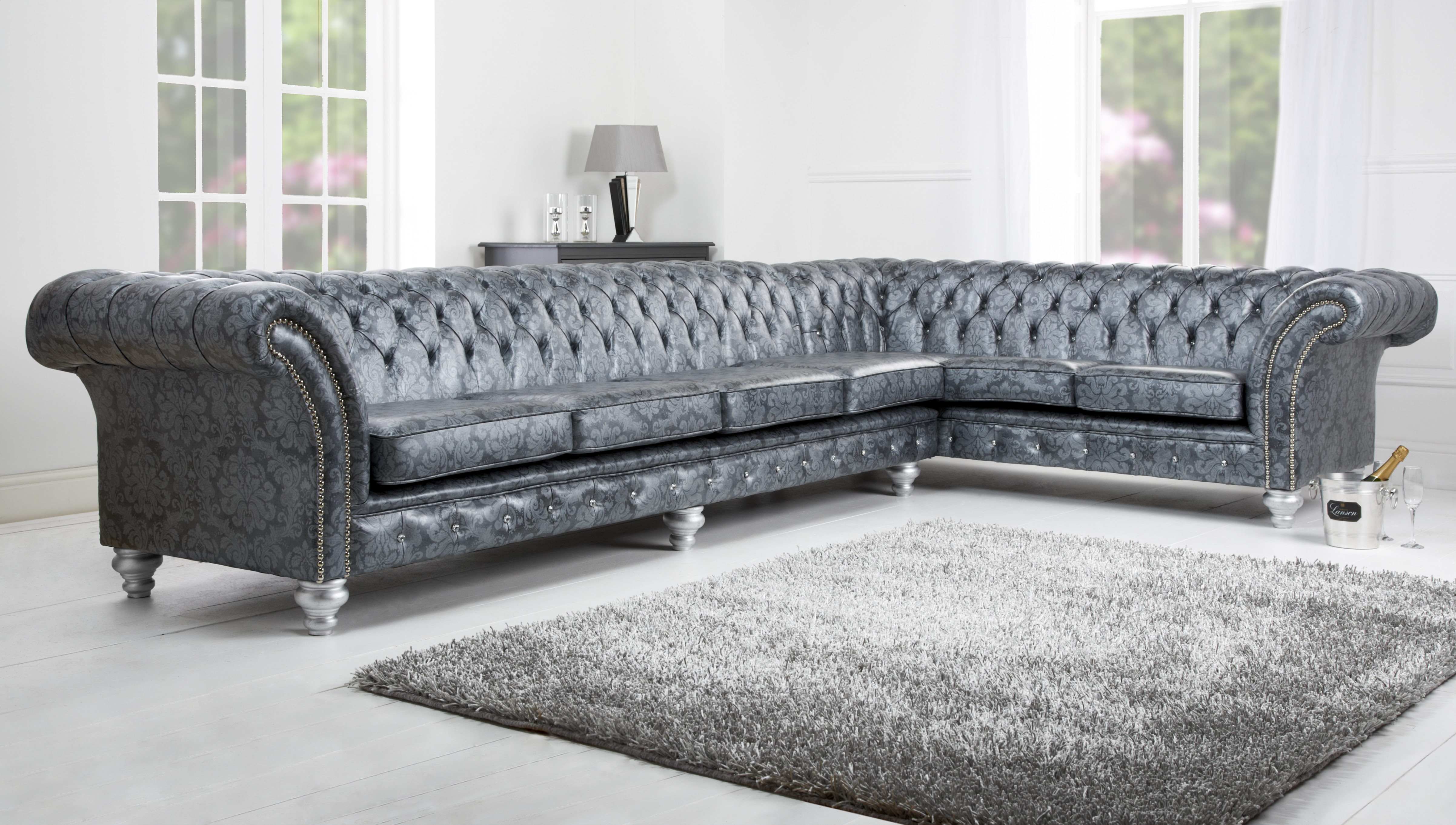Leather Chesterfield Corner Sofa