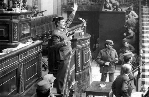 23 febrero 1981. Tejero en la tribuna del Congreso de Diputados