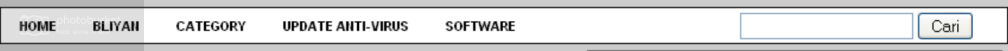 horizontal navbar menu