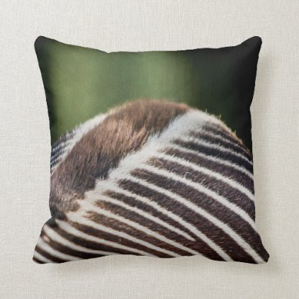 Zebra 03 Digital Art - Pillow