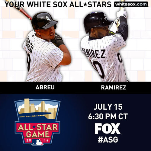whitesox:<br /><br />Congrats to Jose Abreu and Alexei Ramirez, who have been selected to represent the AL in the 2014 #ASG. <br />