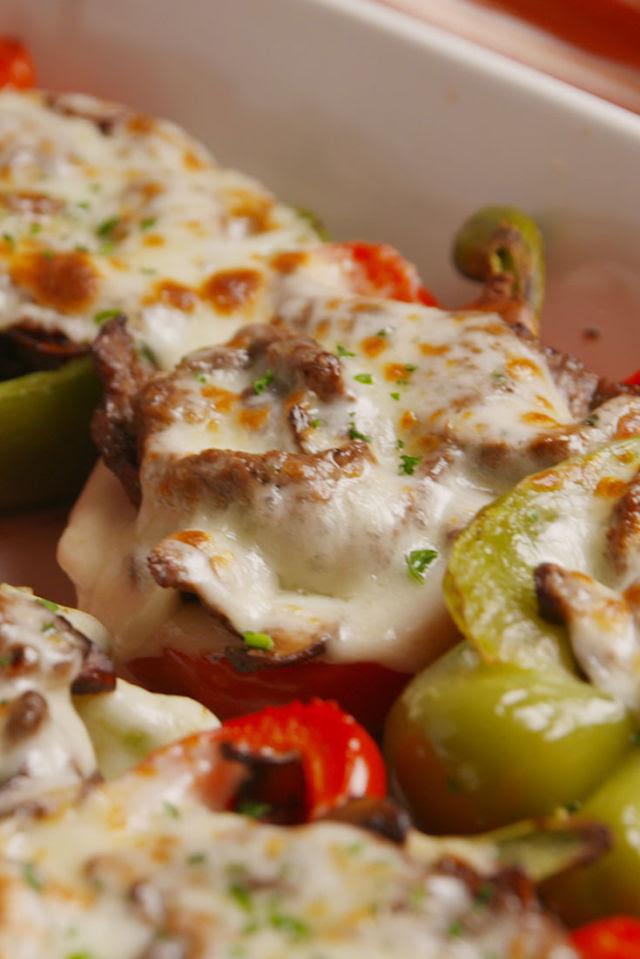 Cheesesteak Stuffed Peppers Vertical