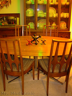 Florence Knoll table and Broyhill Brasilia Chairs - China Cabinet - Buffet 05