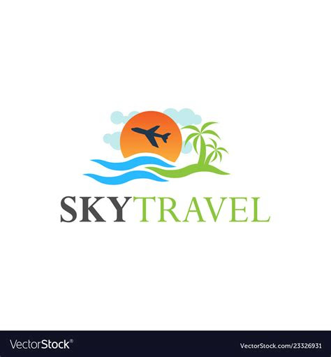 travel logo design inspiration royalty  vector