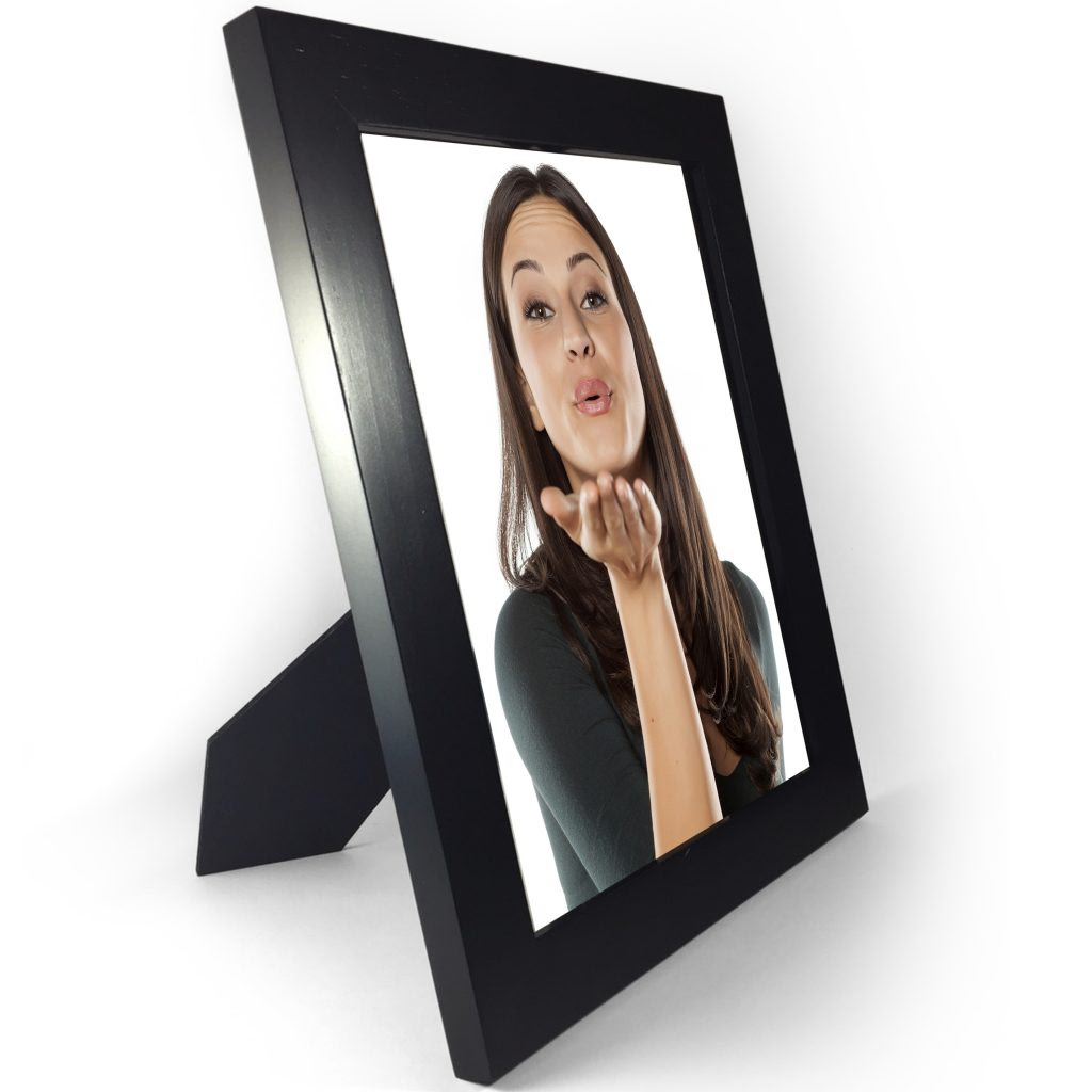 57 Picture Frame Black 2 Pack Wood Photo Frames With Glass