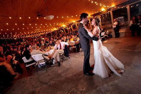 Dancing under the wedding reception pavilion at Hillside