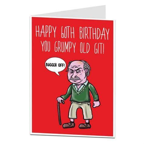 Funny 60th Birthday Card   Grumpy Old Git   LimaLima
