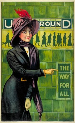 Cartaz de 1911 do metrô de Londres (Foto: Divulgação/Museu do Transporte de Londres)