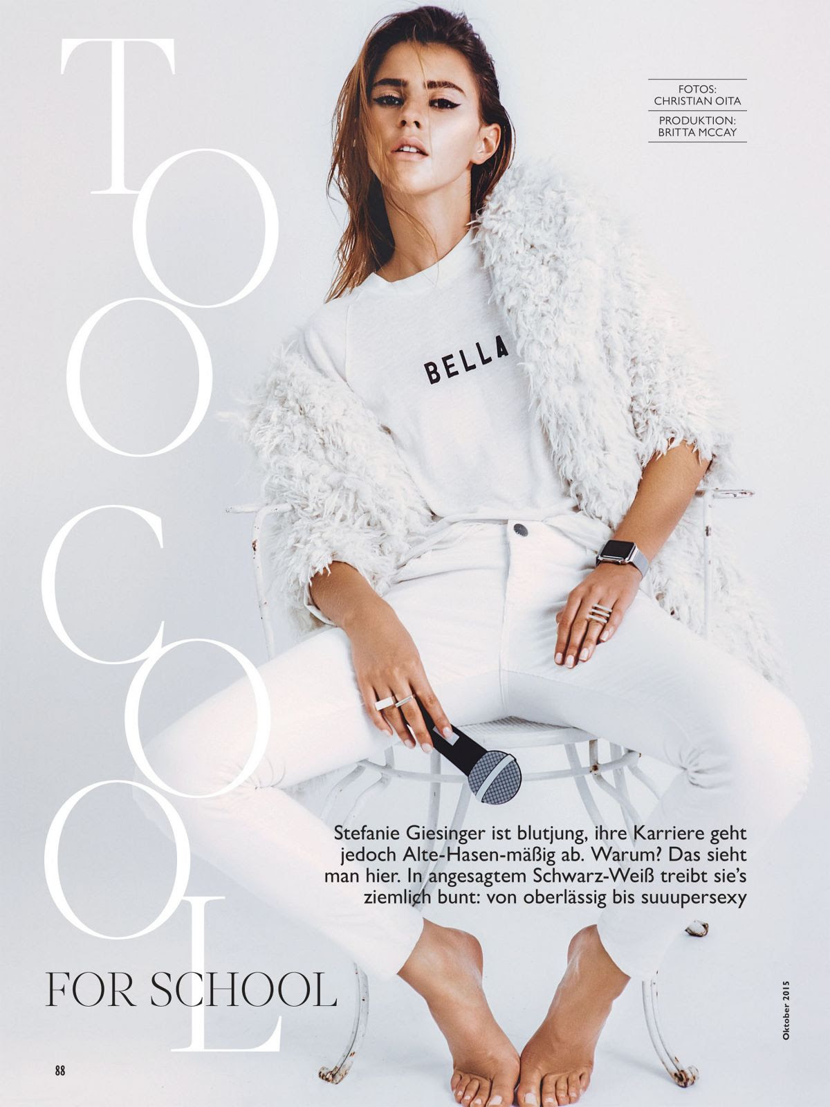 STEFANIE GIESINGER in Cosmopolitan Magazine, Germany October 2015 Issue