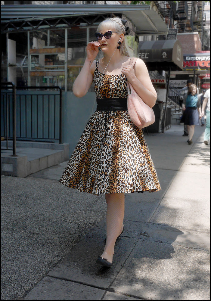 w leopard print dress ol