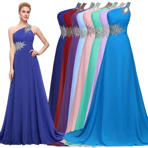 CHEAP~ Long Chiffon Evening Gown Bridesmaid Dresses Prom