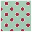 Textured Maroon Polka Dots on Mint Green