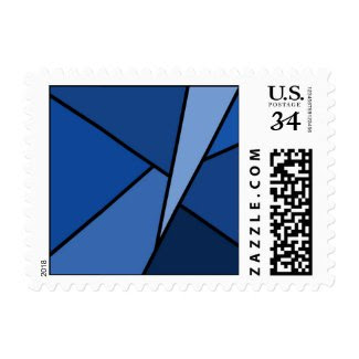 Abstract Blue Polygons – Small Postage Stamp