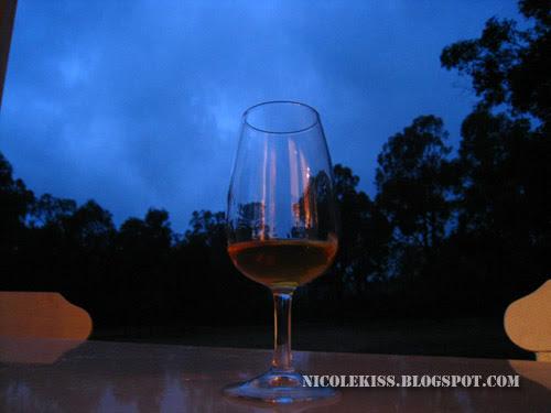 glass of wine at night