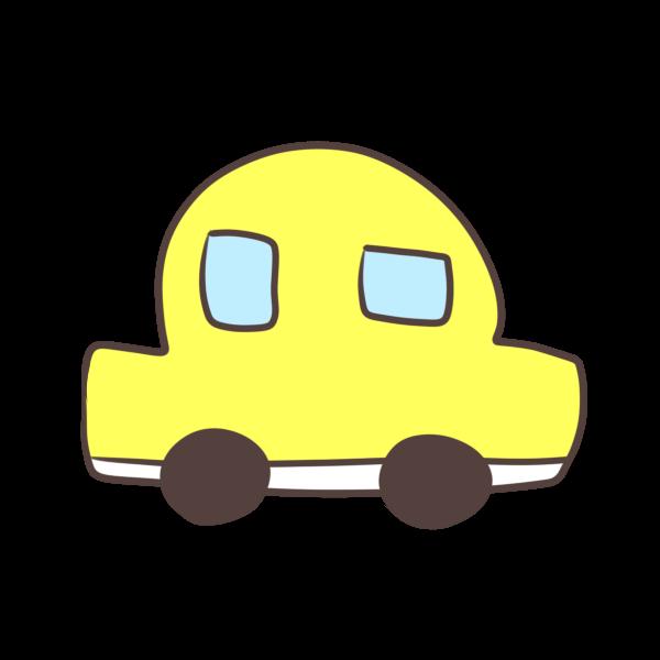 黄色の車のイラスト かわいいフリー素材が無料のイラストレイン