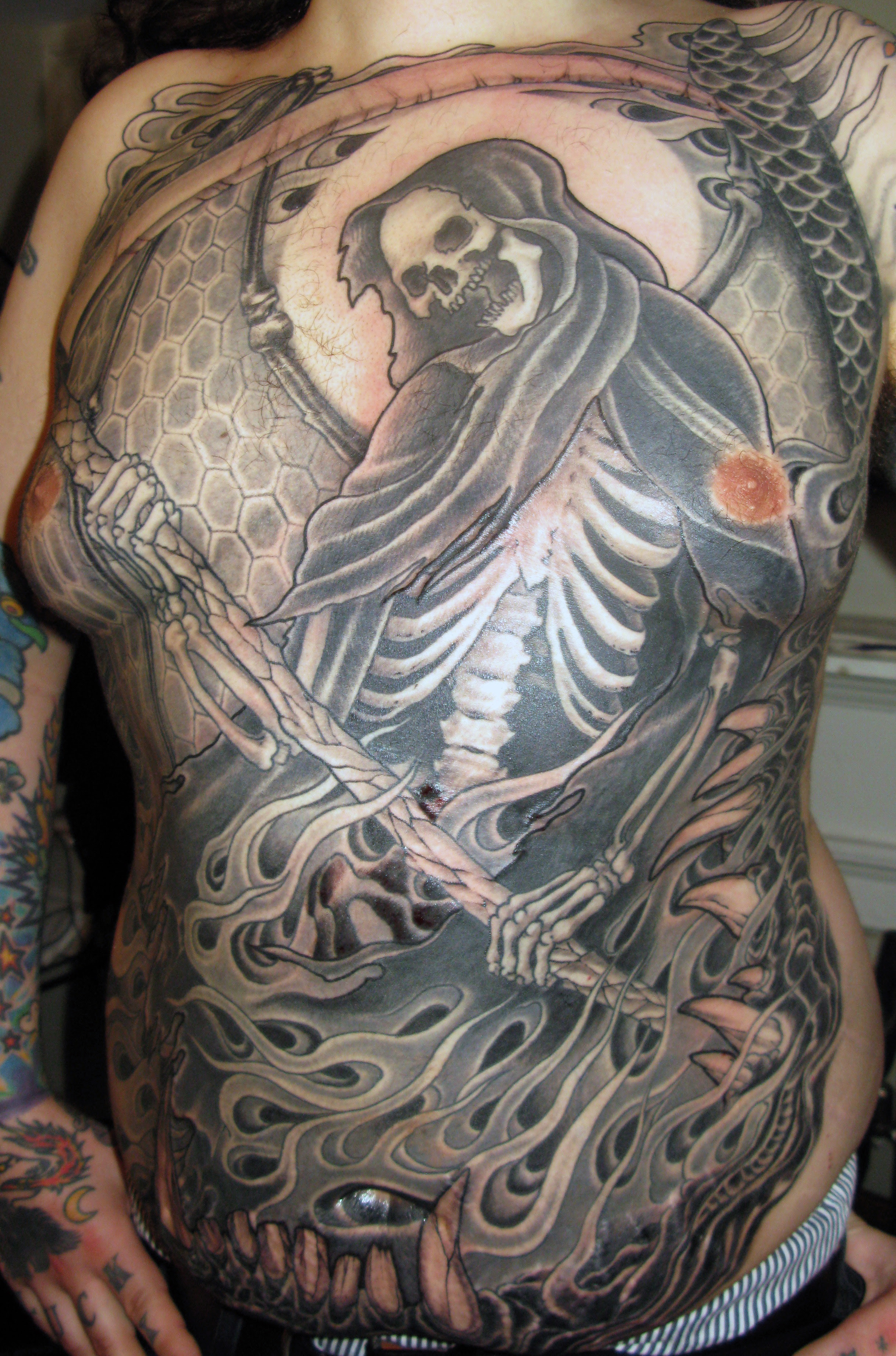 American Traditional Tattoo Black And Grey Tattoo Ideas