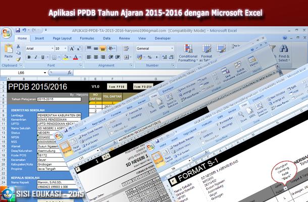 Aplikasi PPDB Tahun Ajaran 2015-2016 dengan Microsoft Excel