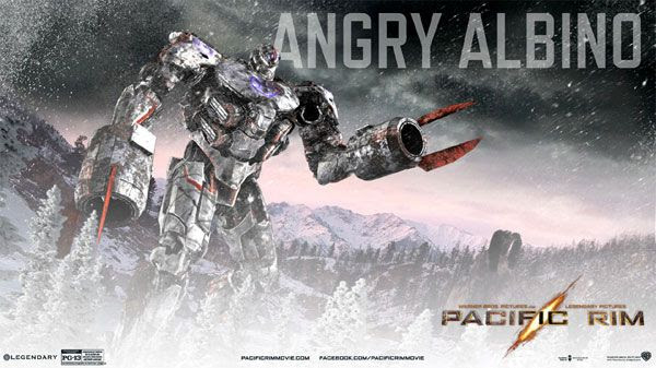 My own PACIFIC RIM Jaeger...known as the Angry Albino.