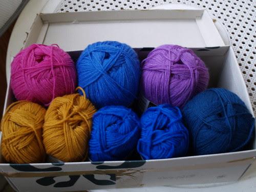 Yarns for handknitted socks.