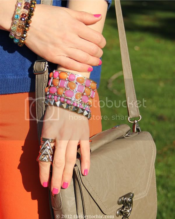 color blocking trend, layered bracelets, Los Angeles fashion blog, southern California fashion blogger