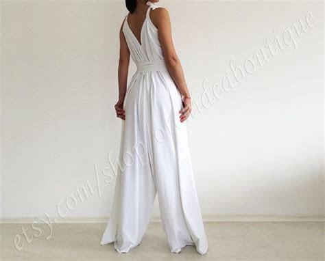 zephyr white wide leg convertible jumpsuit