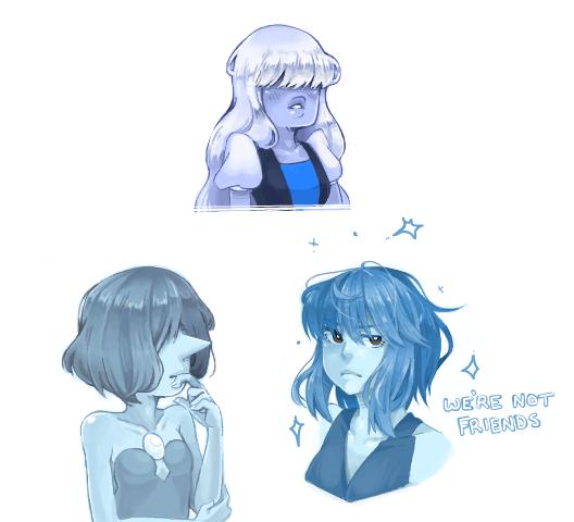 Blue gems.