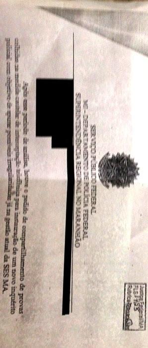 Trecho do rela´torio que confirma novo inquérito na SES: página 1723