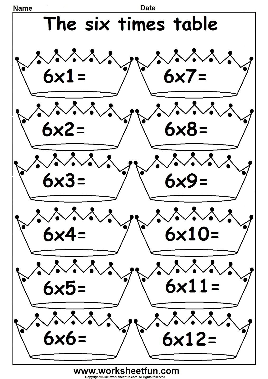 3rd Grade Math multiplication times tables 1