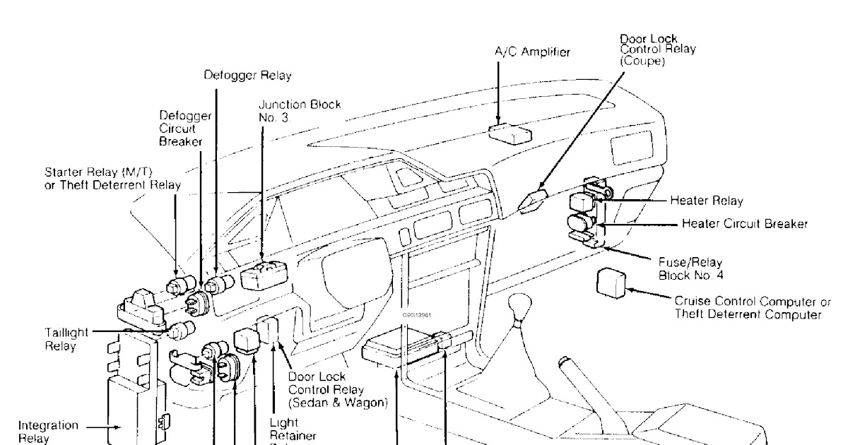 1997 Toyota Rav4 Fuse Box Diagram