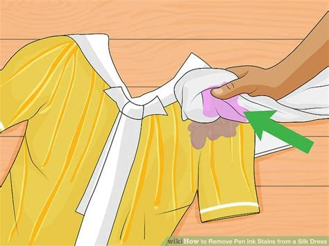 3 Ways to Remove Pen Ink Stains from a Silk Dress   wikiHow
