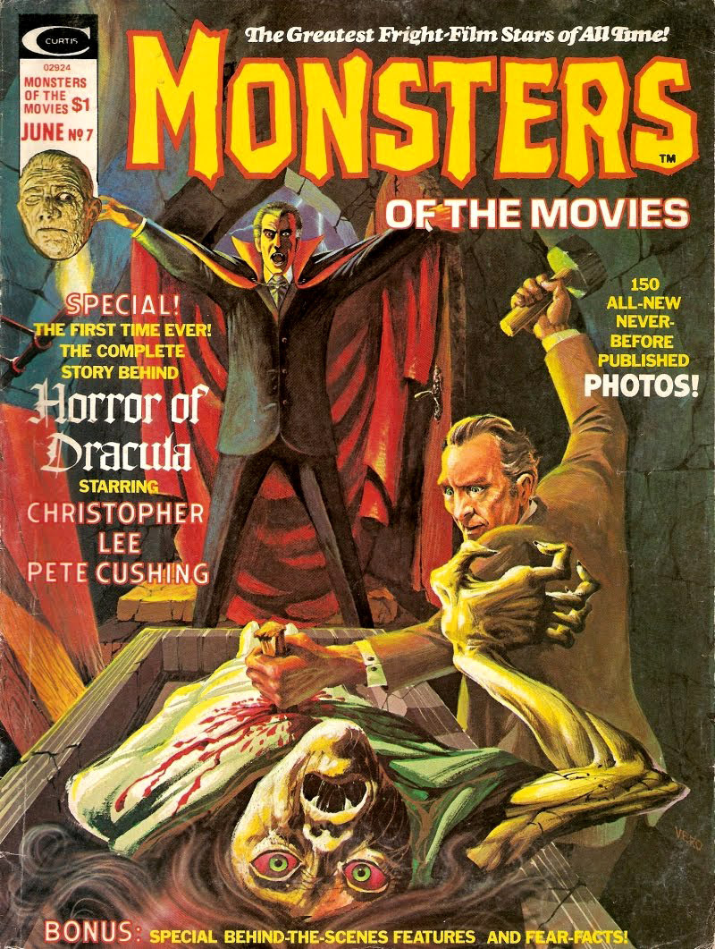 Monsters Of The Movies, Issue 7 (1975) Cover Art by Luis Domingquez