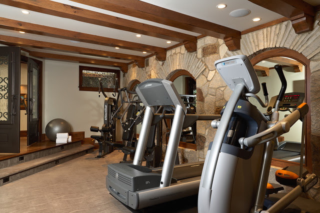 Home Gym - mediterranean - home gym - minneapolis - by Vivid ...