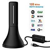 #10: HDTV Antenna - Newest Portable Indoor Digital Antenna, 120 Mile Long Range with Amplifier Signal Booster for 4K HD VHF UHF Local TV Channels with 13ft Coaxial Cable Support All Television(ANT-338A)