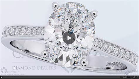 140 Oval Solitaire South Africa Diamond Pavé Ring that