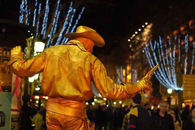 Ramblas Cowboy, Barcelona, Spain [enlarge]