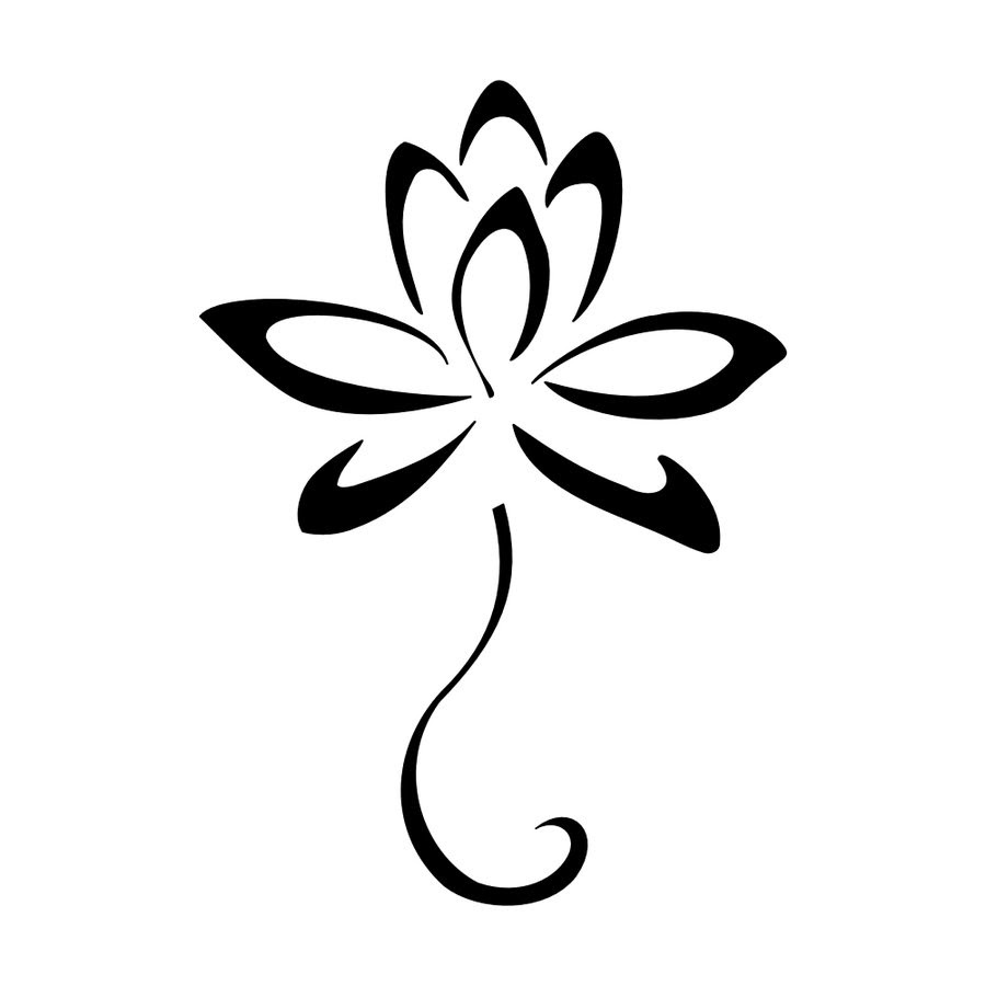 Free Lotus Flower Outline Download Free Clip Art Free Clip Art On