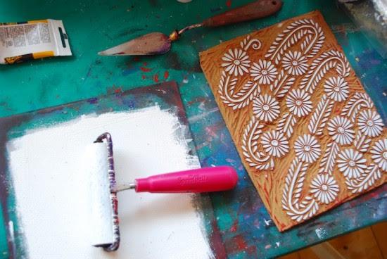 Printing Methods Block Printing Katharine Watson8 550x368 The Printing Process: Block Printing