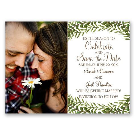 Tis the Season Holiday Card Save the Date   Ann's Bridal