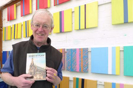 Author Graham Cooper with his new book, Sense of Place