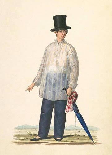 Rich mestizo wearing Barong Tagalog