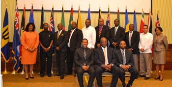 Delegates at the 5th Meeting of the CDEMA Council of Ministers