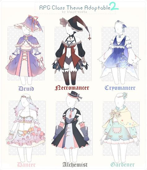 closed rpg class theme outfit adopt   black quose