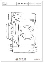 Fotoğraf Makinesi Boyama Sayfaları