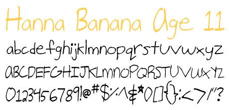 click to download Hanna Banana Age 11
