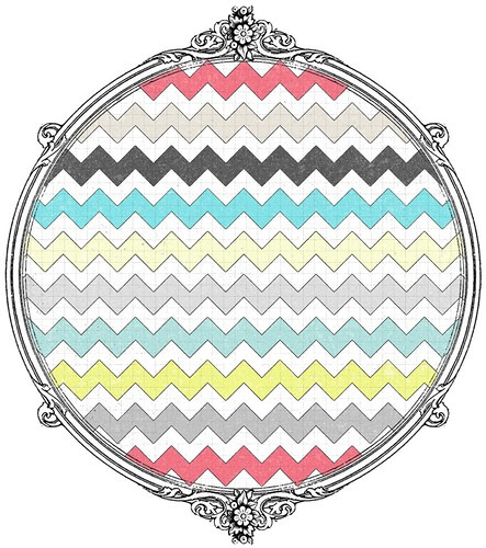 7 distressed multicolour chevron paper SAMPLE