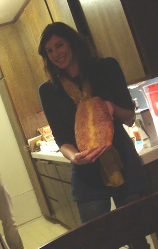 Anna Showing Homemade Bread