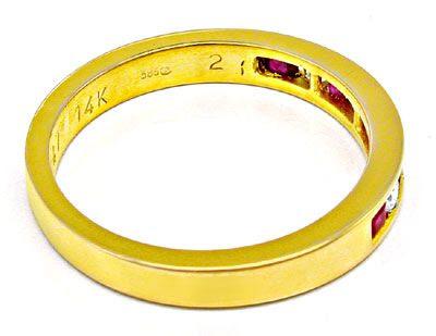 Foto 3, Neu! Spitzenrubine-Brillant-Memory-Ring Luxus Portofrei, S8247