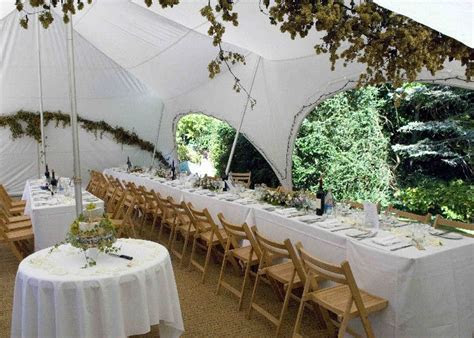 capri marquee decorated with fairy lights, hops and