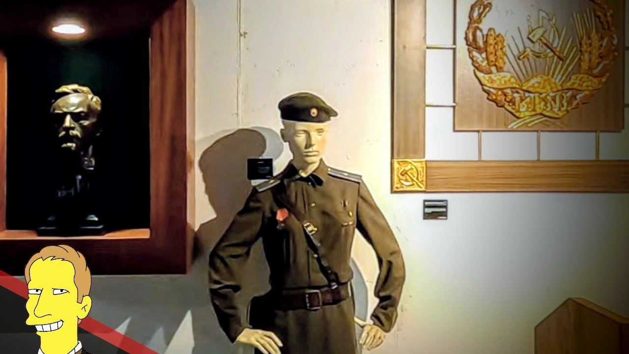 kgb military uniform and artifacts at the KGB Espionage Museum